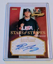 Buy MLB RICCIO TOREZ AUTOGRAPHED 2013 PANINI STARS AND STRIPES MINT