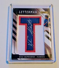 Buy MLB KYLE SKIPWORTH AUTOGRAPHED 2008 RAZOR LETTERMAN JERSEY PATCH ROOKIE MINT