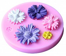 Buy fashion flower soap making silicon mould