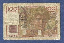 Buy FRANCE 100 Francs 1952 Banknote No 1150028598 - JEUNE PAYSA