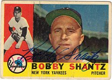 Buy Vintage BOBBY SHANTZ MLB Superstar Autographed Card Gd-Vg