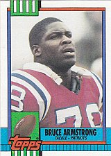 Buy Bruce Armstrong - Patriots 1990 Topps Football Trading Card #419