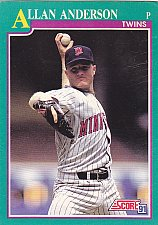 Buy Allen Anderson #135 - Twins 1991 Score Baseball Trading Card
