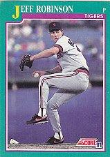 Buy Jeff Robinson #129 - Tigers 1991 Score Baseball Trading Card