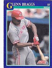 Buy Glenn Braggs #18 - Reds 1991 Score Baseball Trading Card