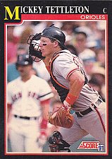 Buy Mickey Tettleton #270 - Orioles 1991 Score Baseball Trading Card