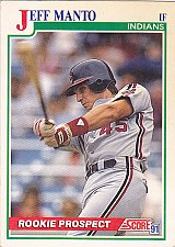Buy Jeff Manto #337 - Indians 1991 Score Baseball Trading Card