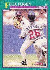 Buy Felix Fermin #139 - Indians 1991 Score Baseball Trading Card