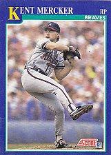 Buy Kent Mercker #79 - Braves 1991 Score Baseball Trading Card