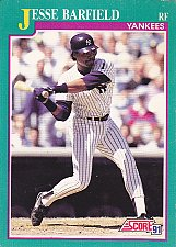 Buy Jesse Barfield - Yankees 1991 Score Baseball Trading Card #148