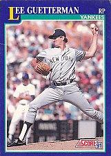Buy Lee Guetterman #34 - Yankees 1991 Score Baseball Trading Card