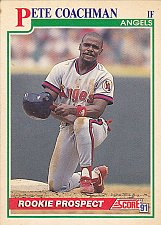 Buy Pete Coachman #344 - Angels 1991 Score Rookie Baseball Trading Card