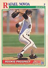 Buy Rafael Novoa #366 - Giants 1991 Score Baseball Trading Card