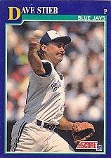 Buy Dave Stieb #30 - Blue Jays 1991 Score Baseball Trading Card