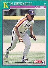 Buy Ken Oberkfell #214 - Astros Score 1991 Baseball Trading Card