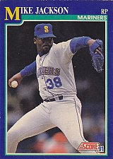 Buy Mike Jackson #91 - Mariners 1991 Score Baseball Trading Card