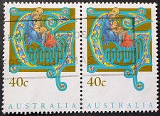 Buy Stamp Australia 1993 Christmas Goodwill 40c Pair