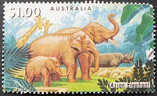 Buy Stamp Australia 1994 Endangered Species Asian Elephant (Elephas maximus) $1