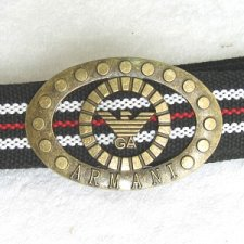 Buy New metal buckle multi color canvas belt