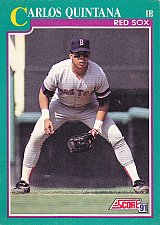 Buy Carlos Quintana #149 - Red Sox 1991 Score Baseball Trading Card