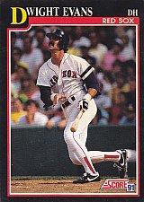 Buy Dwight Evans #225 - Red Sox 1991 Score Baseball Trading Card