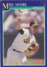Buy Mike Moore #516 - Athletics 1991 Score Baseball Trading Card