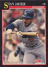 Buy Stan Javier #281 - Dodgers 1991 Score Baseball Trading Card