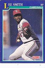 Buy Lee Smith #81 - Cardinals 1991 Score Baseball Trading Card