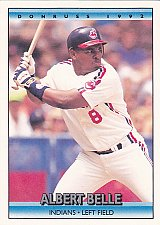 Buy Albert Belle #500 - Indians 1992 Donruss Baseball Trading Card