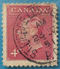 "Buy Stamp Canada 1949 -1951 Definitives King George VI - Inscription: ""POSTES POSTAGE"" 4c"