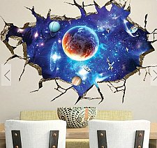Buy 3D space wall sticker children 6
