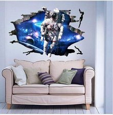 Buy 3D space wall sticker children