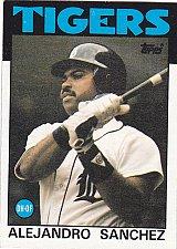 Buy Alejandro Sanchez - Tigers 1986 Topps Baseball Trading Card #563
