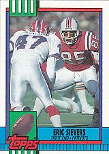 Buy Eric Sievers #428 - Patriots 1990 Topps Rookie Football Trading Card