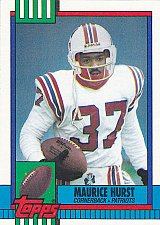 Buy Maurice Hurst #429 - Patriots 1990 Topps Football Trading Card
