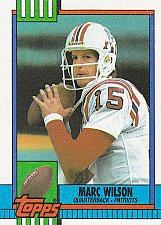 Buy Marc Wilson - Patriots 1990 Topps Football Trading Card #426