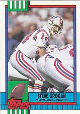 Buy Steve Grogan - Patriots 1990 Topps Football Trading Card #418