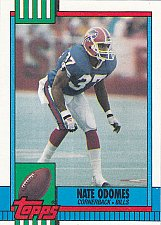 Buy Nate Odomes #198 - Bills 1990 Topps Football Trading Card