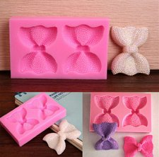 Buy fashion 3D bowknot cake silicone mold