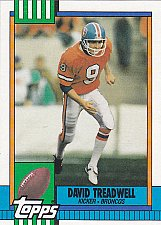 Buy David Treadwell #34 - Broncos 1990 Topps Football Trading Card
