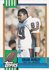 Buy Orson Mobley #47 - Broncos 1990 Topps Football Trading Card