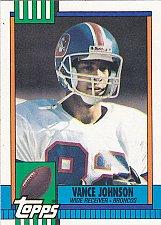 Buy Vance Johnson - Broncos 1990 Topps Football Trading Card #38