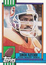 Buy Simon Fletcher - Broncos 1990 Topps Football Trading Card #39