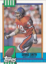 Buy Dennis Smith - Broncos 1990 Topps Football Trading Card #36
