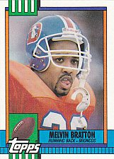 Buy Melvin Bratton #42 - Broncos 1990 Topps Football Trading Card