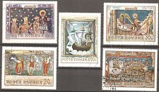 Buy Romania: Frescoes from N. Moravian Monasteries (1969) CTO Short Set