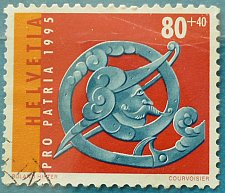 Buy Stamp Switzerland 1995 Pro Patria Part of a chest lock (c. 1580) 80 + 40 Centime