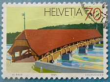 "Buy Stamp Switzerland 1991 Bridges ""Neubrück"" near Bremgarten (1535) 70 Centime"