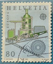 Buy Stamp Switzerland 1983 Europa CEPT Cog railway of Niklaus Riggenbach (1817-99) engine