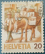Buy Stamp Switzerland 1987 Definitive Post by mule 20 Centime